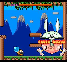 Crazy flamethrower bunny.