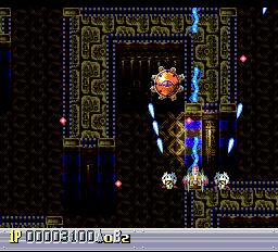 A scrolling maze area!